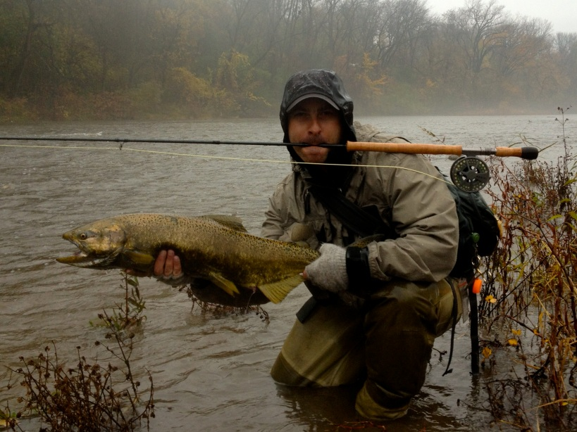 Mr. Brownliner with First Chinook on the Swing