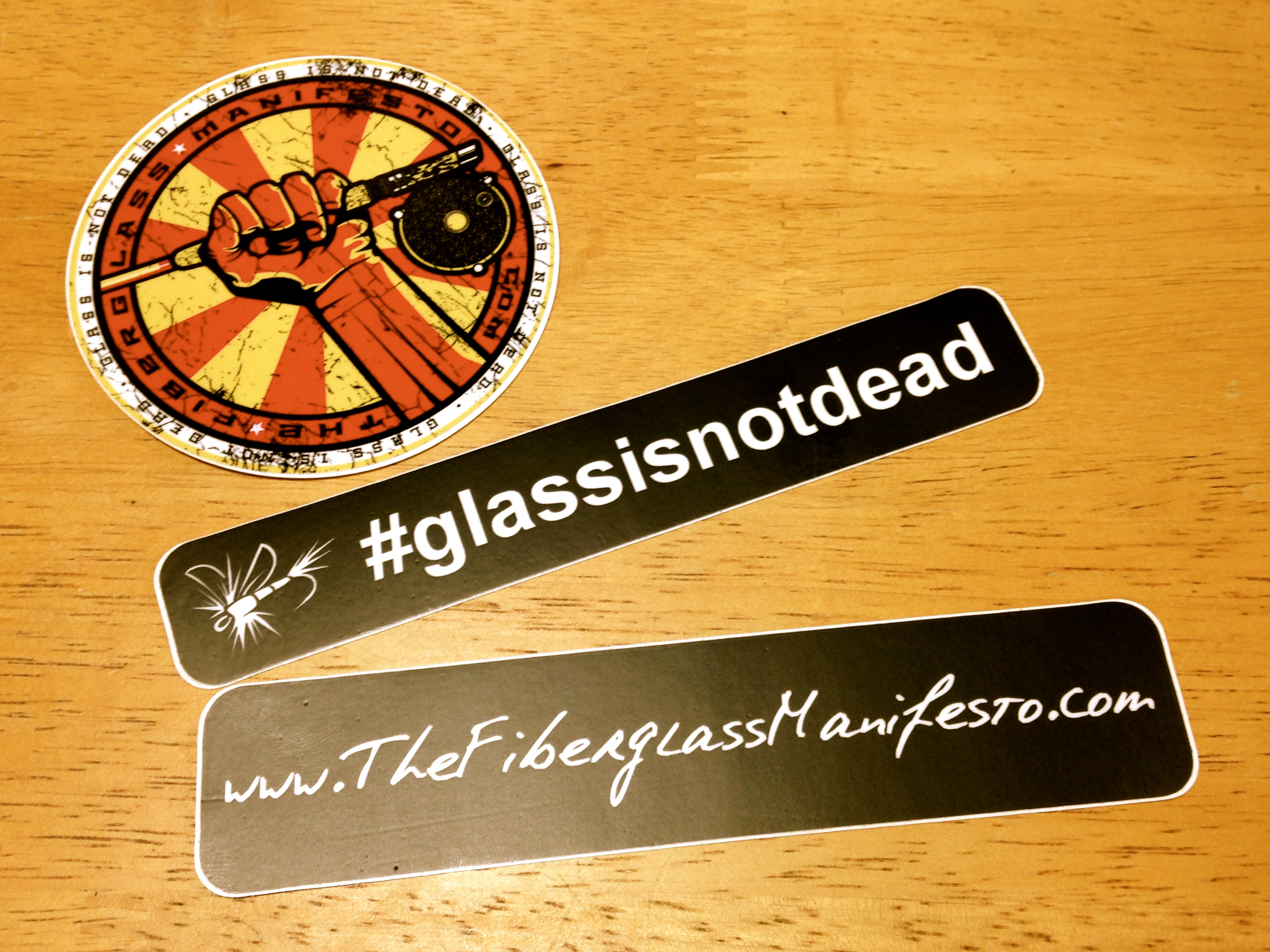 No Disrespect To Camerons Sweet Sticker Swag But The Truly Big News Is That I Am Now Proud Owner Of My First Custom Build Glass Rod Courtesy Shane